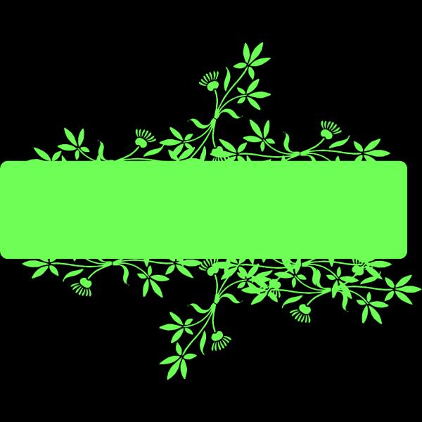 Green Banner Flag PNG Clip art