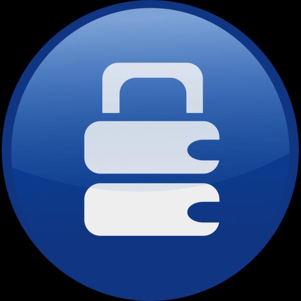 Blue Secure Button PNG Clip art
