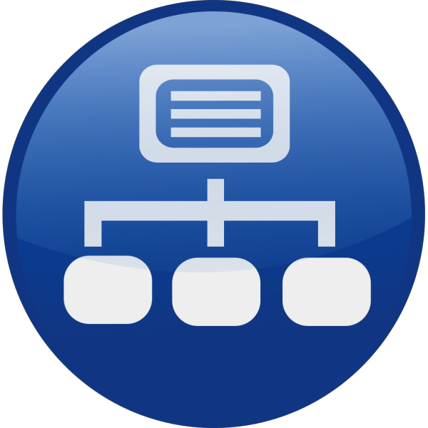Blue Network Diagram PNG images