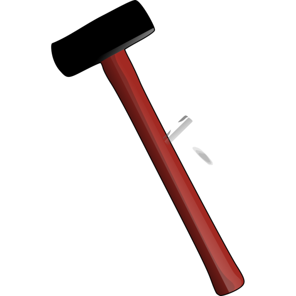 Red Sledgehammer PNG Clip art