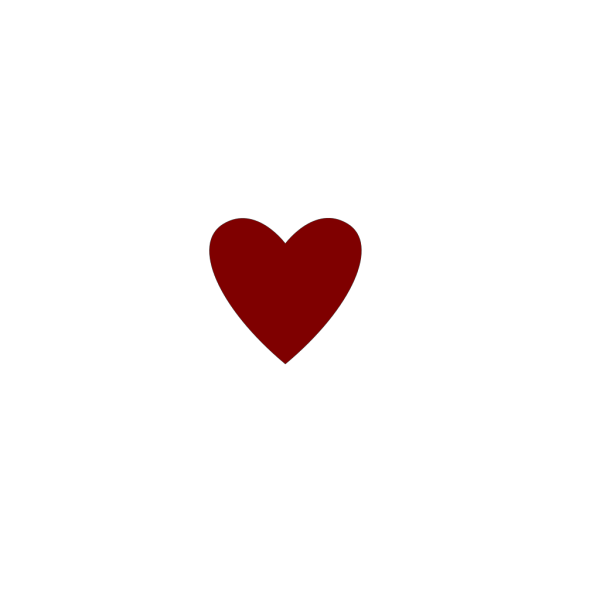 A Heart Done By Words Outline PNG Clip art