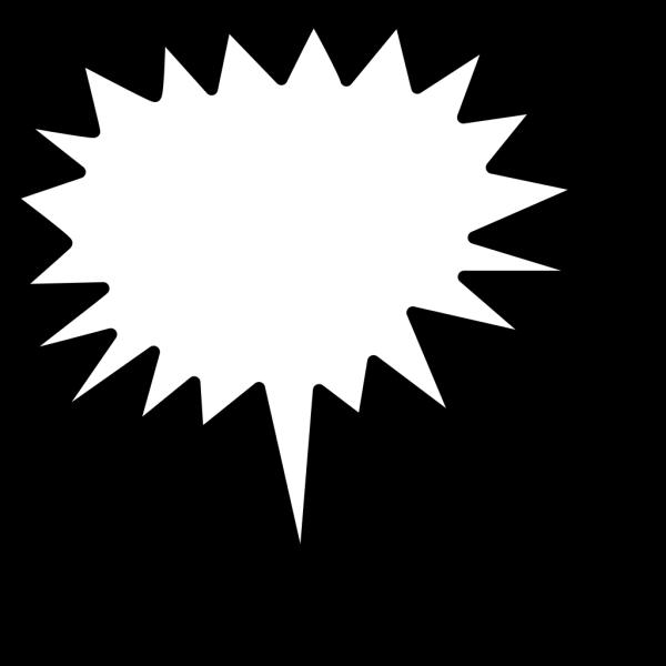Black White Callouts PNG Clip art