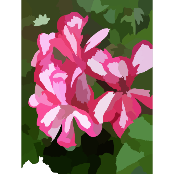 Geranium In Pot PNG Clip art
