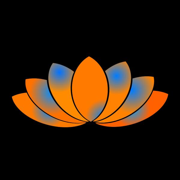 Lotus Flower Blue Gray PNG Clip art