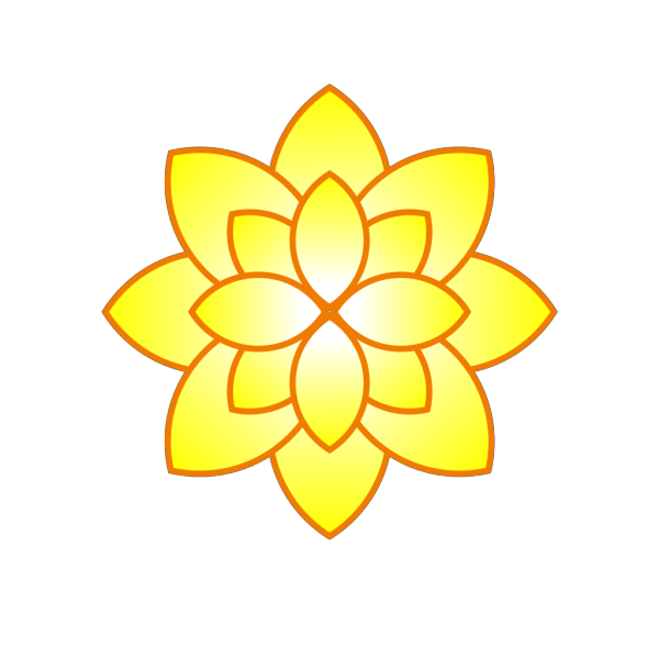 Simple Yellow Flower PNG Clip art