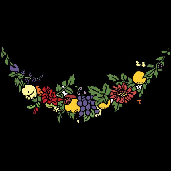 Flower And Fruit Festoon PNG Clip art