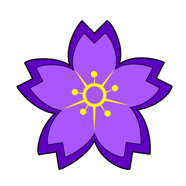 Purple Flower 17 PNG Clip art