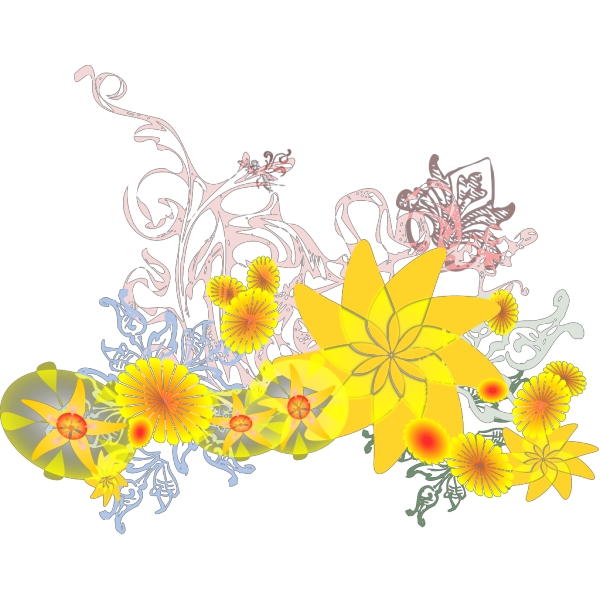 Flourishing Flowers PNG Clip art