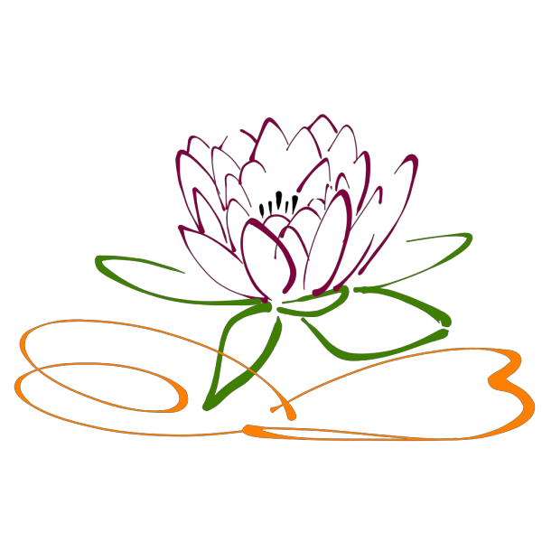 White Lotus Flower PNG Clip art
