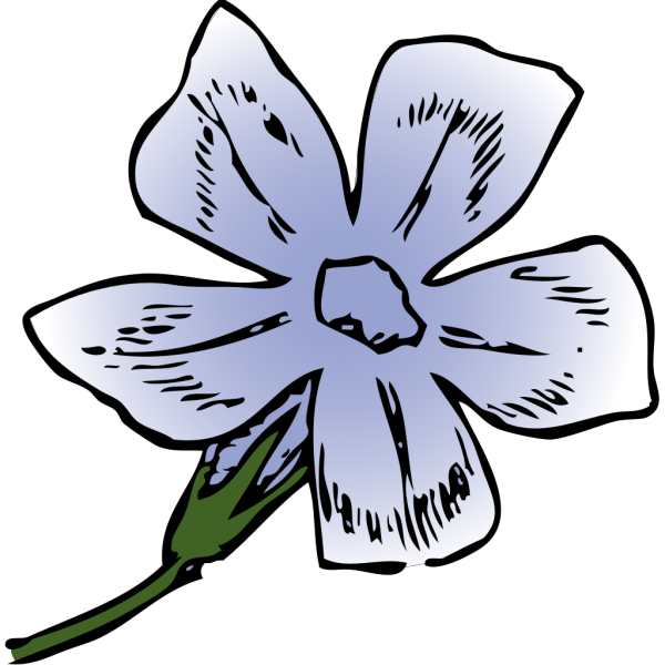 Purple Flower 6 PNG Clip art