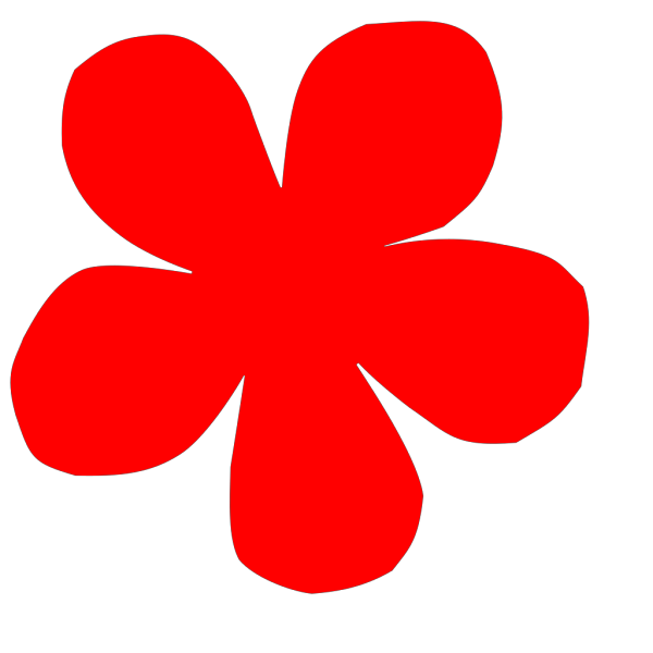 Japanese Decorative Red Flower PNG Clip art