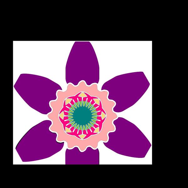 Geometric Flower Shape PNG Clip art