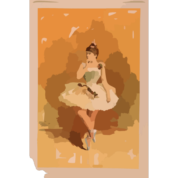[ballerina In White Costume With Flowers In Dance Pose] PNG Clip art