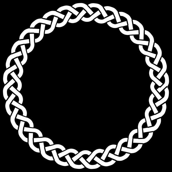 3-plait Border Circle PNG Clip art