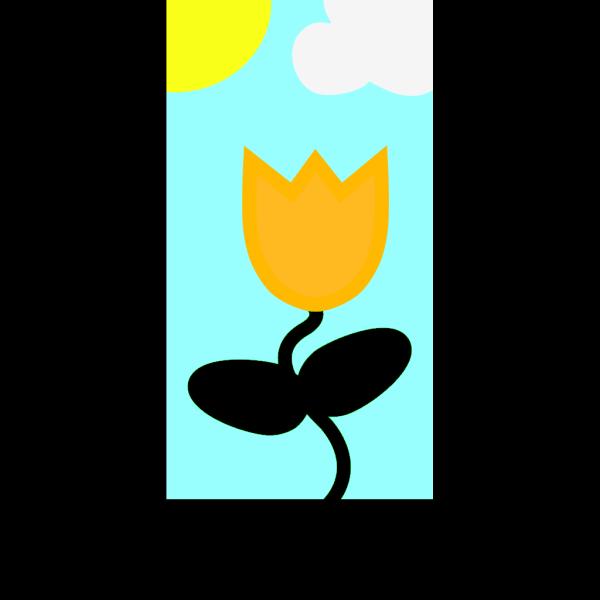 Flower Spring Scene PNG Clip art