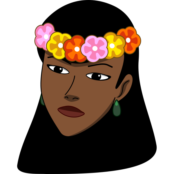 Woman Wearing Hawaiian Lei PNG Clip art