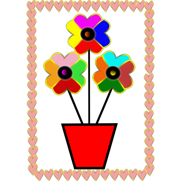 Flowers Hearts PNG Clip art