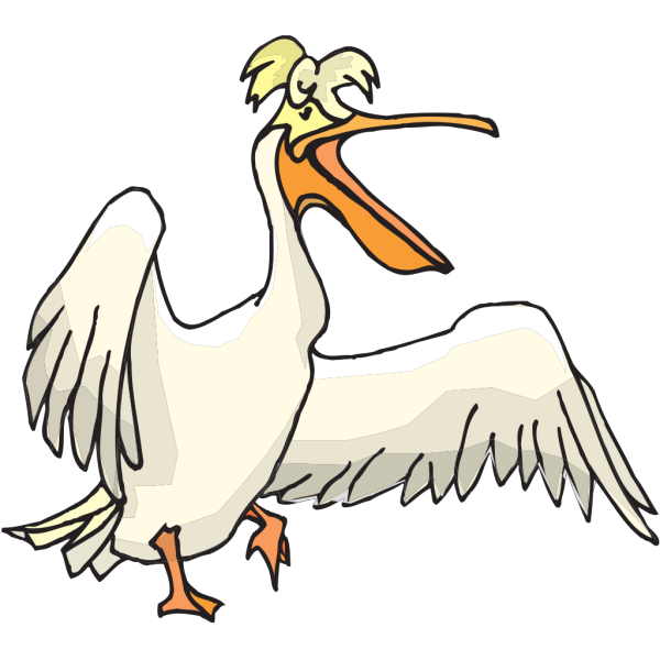 Silly Pelican PNG Clip art