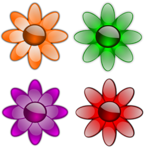 Gloss Flowers PNG clipart