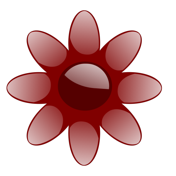 Red Glossy Flower PNG Clip art