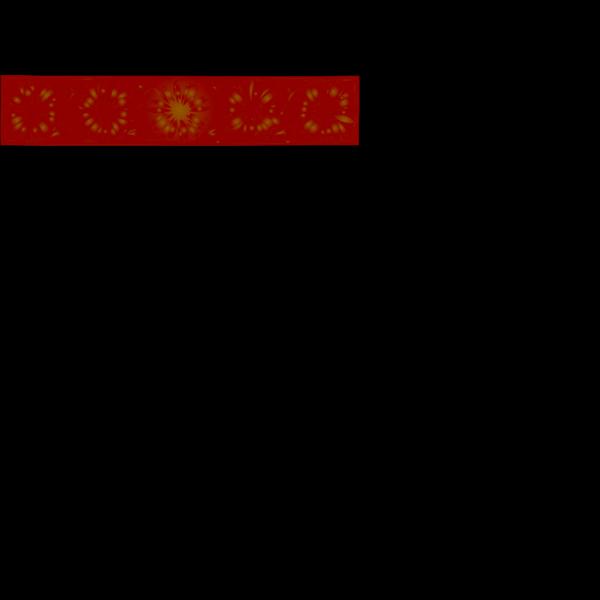 Daisy Border - Orange PNG Clip art