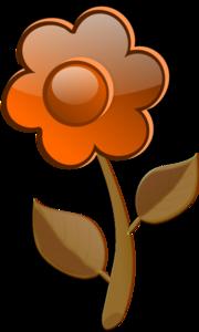 Red Orange Flower PNG Clip art