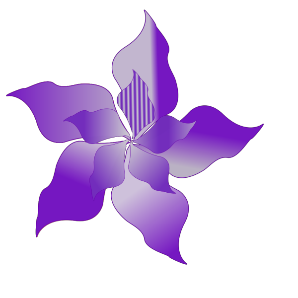 Purple Flower 11 PNG Clip art