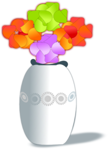 Flowers In Vase 2 PNG Clip art