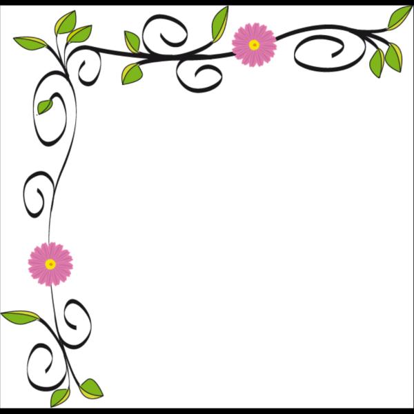 Floral Border PNG Clip art