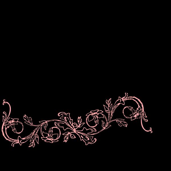 Peach Flower Frame PNG Clip art