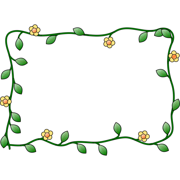 Double Flower Frame PNG Clip art