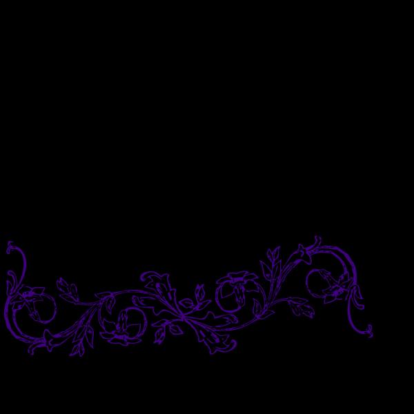 Purple Flower Frame PNG Clip art