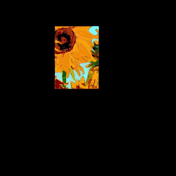 Van Gogh Sun Flower PNG Clip art