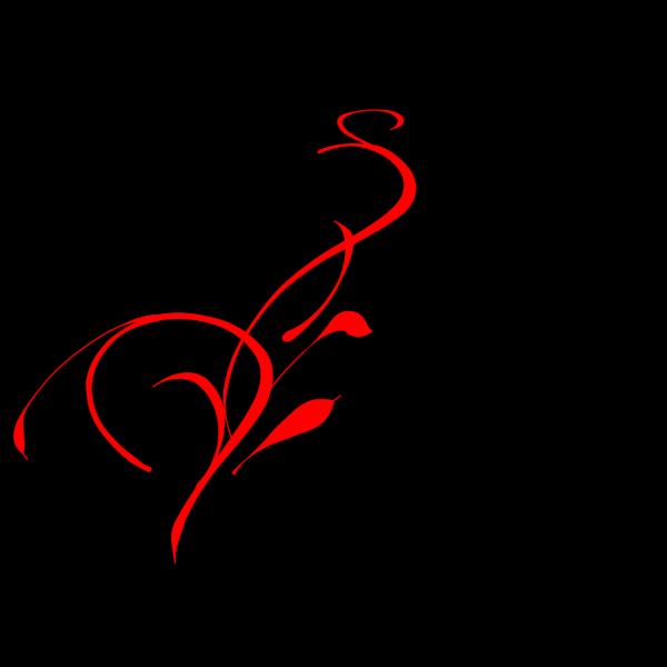 Red Vines Floral PNG Clip art