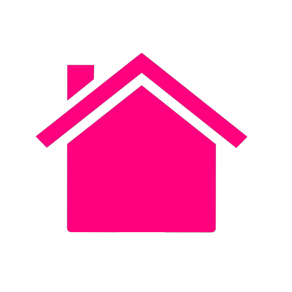 Pink House 2 PNG Clip art