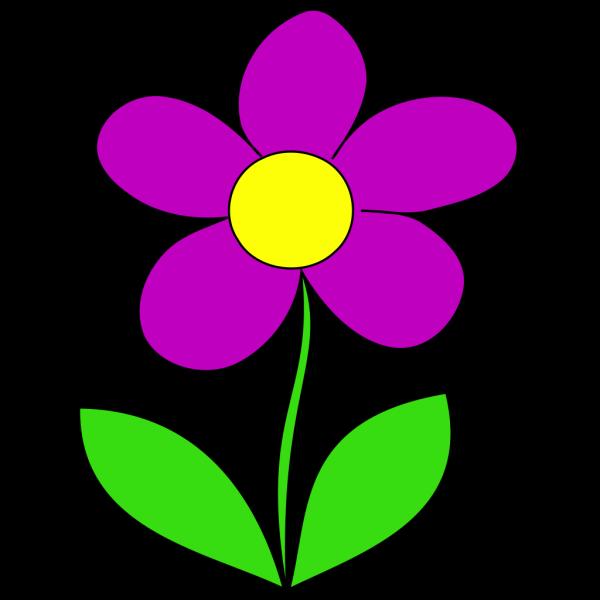 Purple Flower 2 PNG Clip art