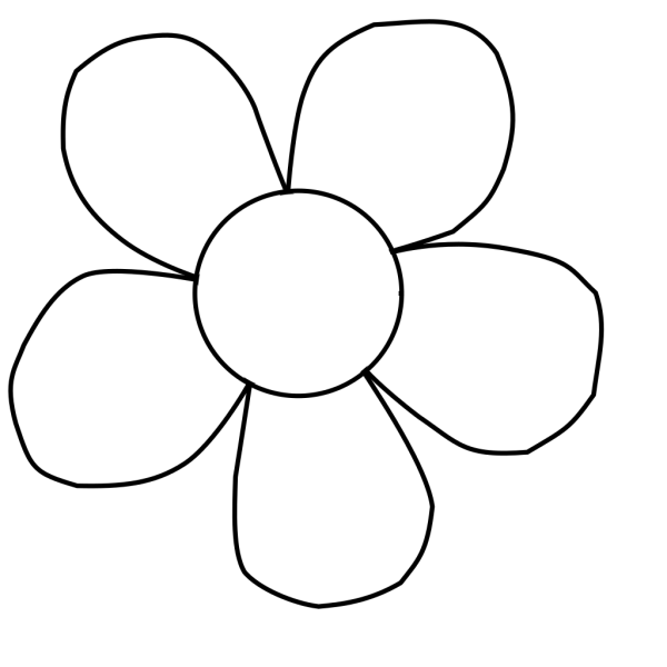 Black And White Daisy PNG Clip art