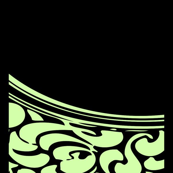 Green Flower Frame PNG Clip art