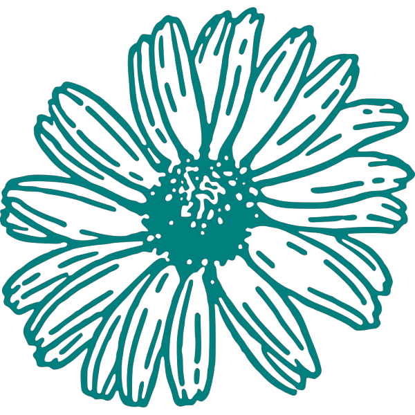 Daisy In Teal PNG Clip art