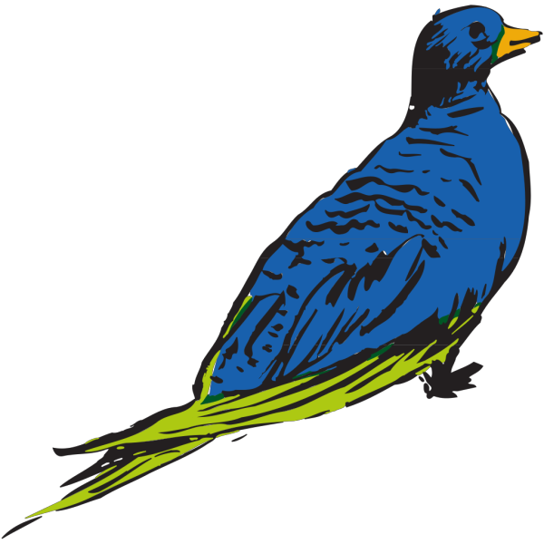 Blue And Green Bird PNG icon