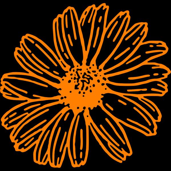 Mustard Color Daisy PNG Clip art