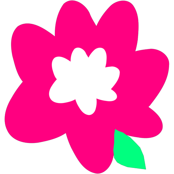 Pink Cartoon Flower PNG Clip art