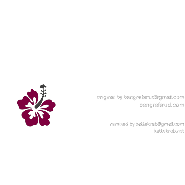 Hibiscus-burgundy PNG Clip art