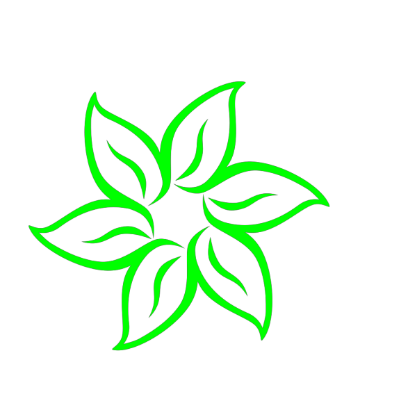 Bright Green Flower PNG Clip art
