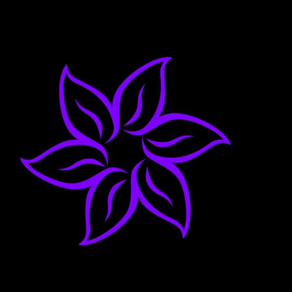 Purple Flower 12 PNG Clip art