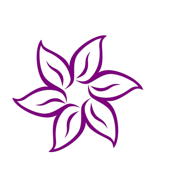 Purple Pink Flower PNG Clip art