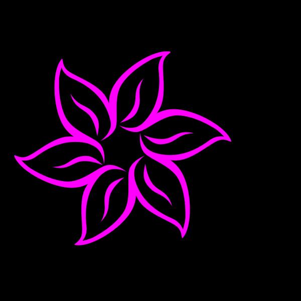 Hot Pink Flower PNG Clip art