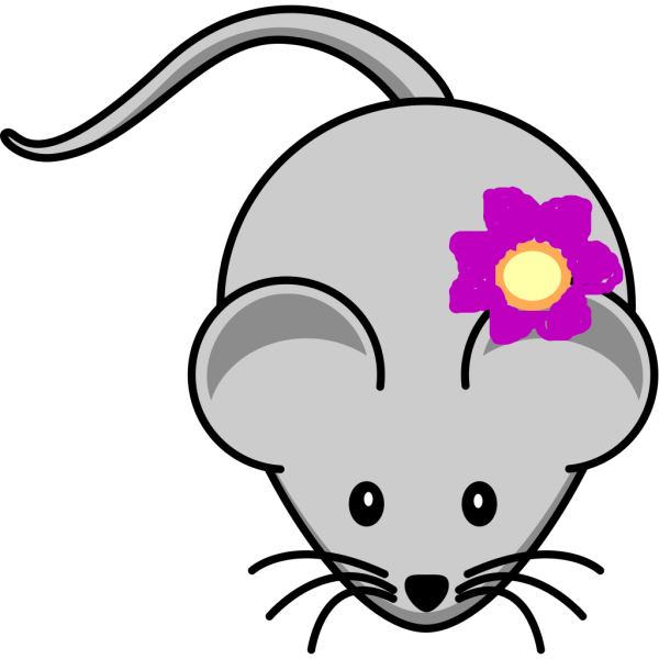 Rat With Flower PNG Clip art