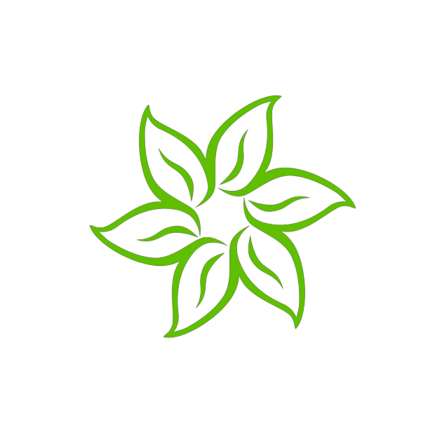 Green Flower PNG icon