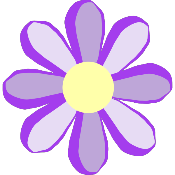 Purple Flower Outline PNG Clip art